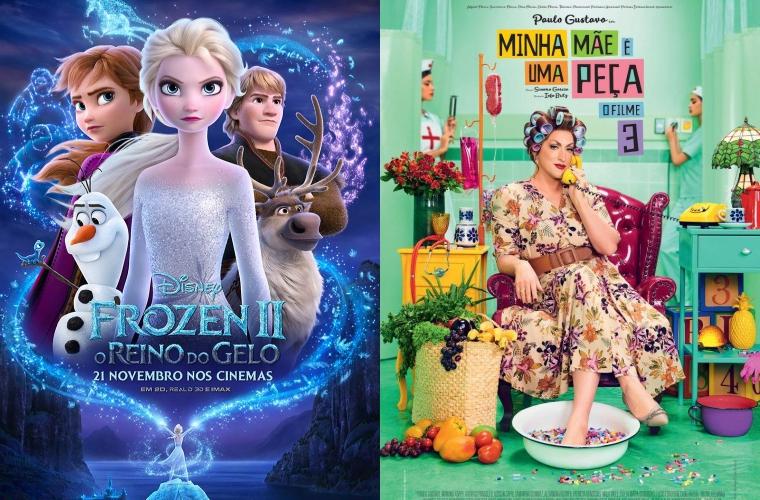 Frozen 2 e Minha Mãe é Uma Peça 3 continuam em cartaz no Grupo Cine