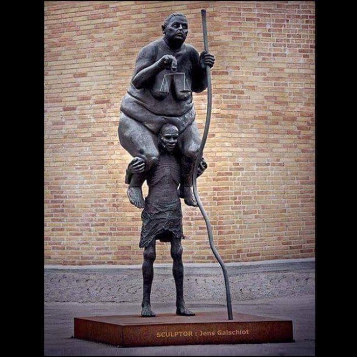 Escultura do dinamarquês Jens Galschiot