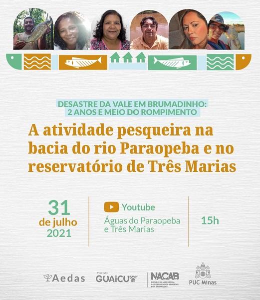 Pesca no Rio Paraopeba e Lago de Três Marias será tema de seminário