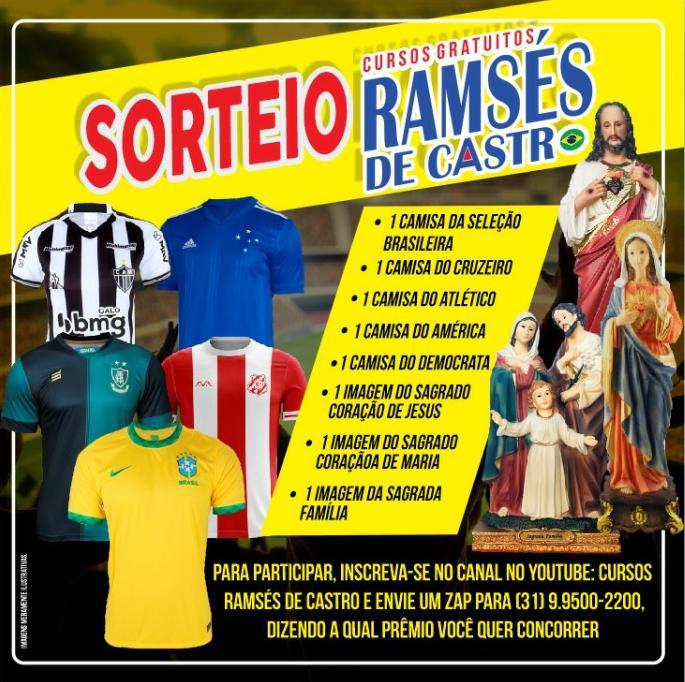 Ramsés de Castro anuncia sorteios de camisas oficiais e imagens sagradas
