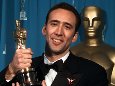 Nicolas Cage, vencedor do Oscar de 1996