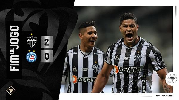 Com os 2 a 0 sobre o Bahia, sete vitórias em nove jogos, o Atlético vai embalando