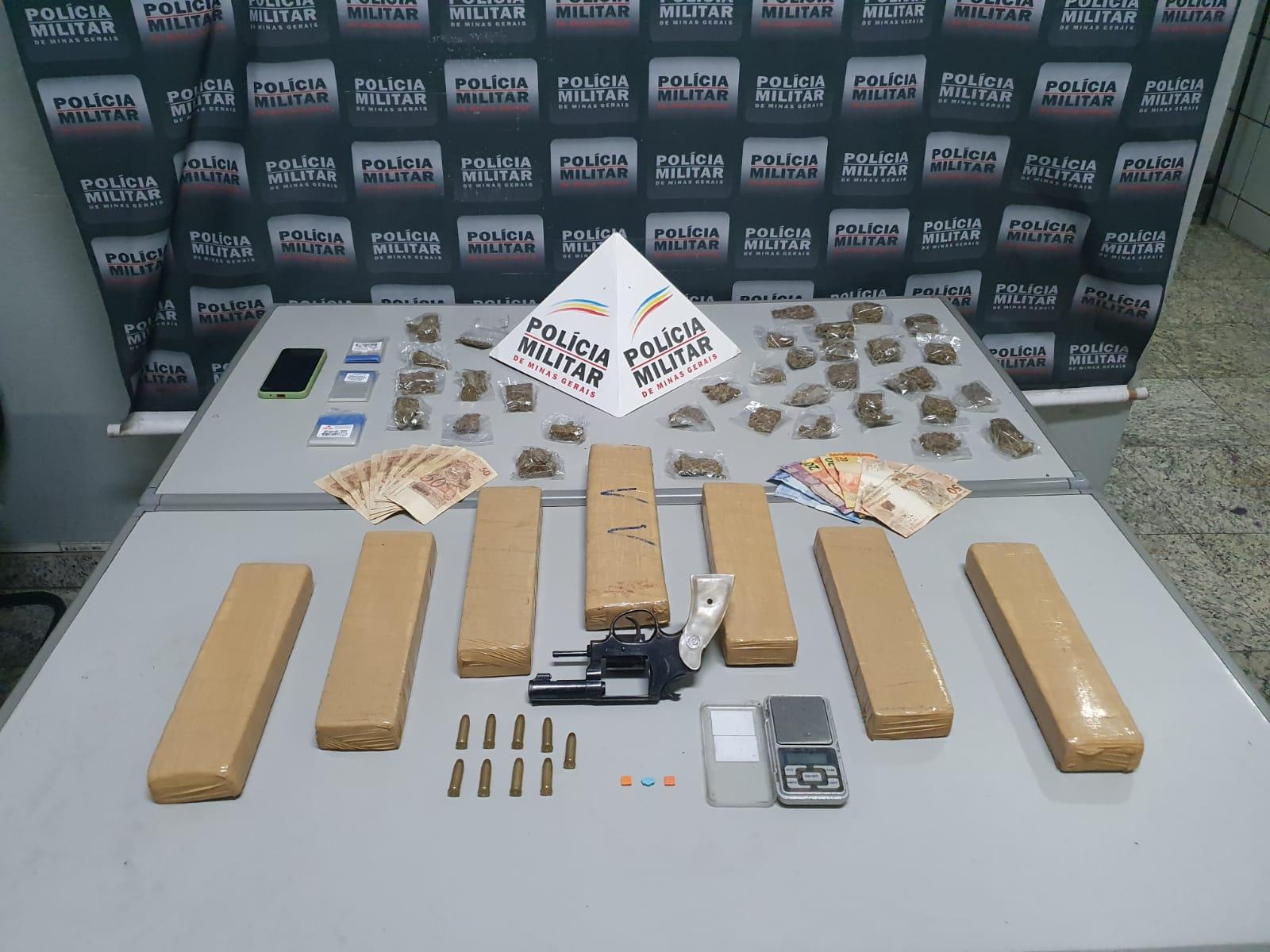 Trio é preso na Lagoa Paulino com muita droga, arma de fogo e notas falsas
